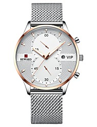 cheap -REWARD Men's Dress Watch Analog Quartz Modern Style Stylish Casual Water Resistant / Waterproof Calendar / date / day / One Year / Titanium Alloy