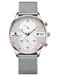 cheap -REWARD Men's Dress Watch Analog Quartz Modern Style Stylish Casual Water Resistant / Waterproof Calendar / date / day / One Year / Titanium Alloy