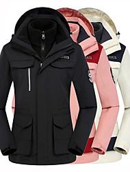 cheap -Women's Hoodie Jacket Hiking Jacket Hiking 3-in-1 Jackets Winter Outdoor Patchwork Thermal Warm Waterproof Windproof Fleece Lining 3-in-1 Jacket Winter Jacket Fleece Camping / Hiking Ski / Snowboard