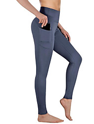 cheap -Women's Sporty Streetwear Breathable Plus Size Skinny Daily Holiday Leggings Pants Solid Colored Ankle-Length Patchwork Jacquard Black Dark Gray Navy Blue
