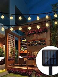 cheap -Solar String Lights Outdoor 5M 20LED Garden Tube Lights Waterproof LED Fairy Light for Party Wedding Patio Garden Tree Yard Decoration