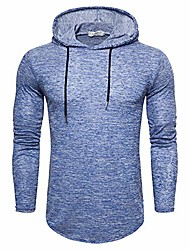 cheap -mens fashion lightweight sport athletic hoodies tops casual pullover solid color sweatshirts blue