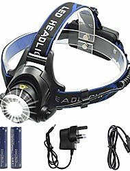 cheap -head torch, 2000 lumen 5000 lumen zoomable rechargeable led headlamp headlight flashlight, waterproof adjustable led headlamp, 3 modes, perfect for running, walking the dog, camping, reading