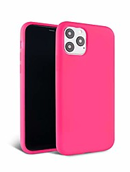 cheap -– iphone 12 pro max case – neon pink silicone phone cover | wireless charging compatible, 360° shockproof protective case for apple iphone 12 pro max