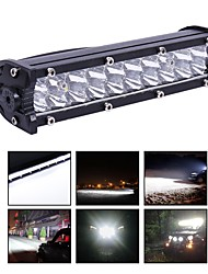 cheap -1PCS Car Work  light bar 4800LM 7  inch 60W 12-24v Combo spot led Work light bar for Tractor Boat 4WD Work light