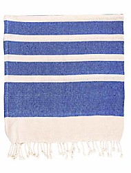 cheap -100% turkish cotton towel | beach bath gym sauna | hammam peshtemal fouta style throw sheet - navy stripe