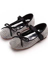 cheap -Girls' Flats Princess Shoes PU Little Kids(4-7ys) Daily Walking Shoes Black Silver Spring Fall / Rubber