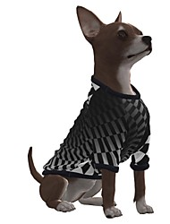cheap -Dog Shirt / T-Shirt Graphic Optical Illusion 3D Print Exaggerated Casual / Daily Dog Clothes Puppy Clothes Dog Outfits Breathable Black Costume for Girl and Boy Dog Polyster S M L XL