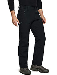 cheap -men's softshell hiking pants, fleece lined water repellent winter pants, insulated work outdoor pants for cold weather, softshell(ykb58) - black, 3x-large
