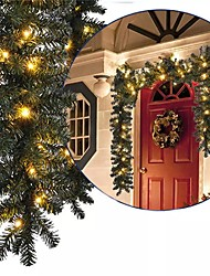 cheap -2.7M Christmas Artificial Garland Wreath Pine Tree DIY Hanging Ornament Christmas Tree New Year Fireplace Decoration