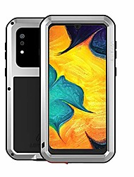cheap -galaxy a30 case,galaxy a20 case, aluminum alloy metal gorilla glass outdoor rugged heavy duty bumper hybrid silicone military shockproof cover for samsung galaxy a30/galaxy a20 (silver)