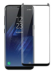 cheap -olixar for samsung galaxy s8 screen protector tempered glass - shock proof, anti-scratch, anti-shatter, bubble free, clear hd clarity full coverage case friendly - easy application