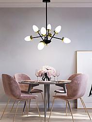 cheap -8-Light 76 cm Sputnik Design Single Design Chandelier Glass Painted Finishes Contemporary Nordic Style 110-120V 220-240V