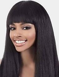cheap -Human Hair Wig Medium Length Long Very Long kinky Straight With Bangs Natural Women Sexy Lady New Capless Vietnamese Hair Women's Natural Black #1B 12 inch 14 inch 16 inch