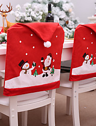 cheap -Christmas Chair Covers Set Santa Chair Back Suit Slipcovers for Home Kitchen Dining Room Holiday Party