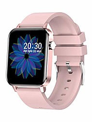 """cheap -smart watch for android ios phones, 1.4"""" touch screen bluetooth fitness tracker watches for men women, ip67 waterproof activity tracker with heart rate monitor sleep compatible iphone (pink)"""