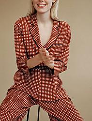 cheap -Women's Ordinary Red Jumpsuit Plaid Patchwork