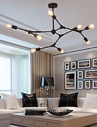 cheap -6/8/9 Heads Pendant Light Modern Chandelie Living Room Bedroom Metal Painted Finishes Nordic Style 110-120V 220-240V