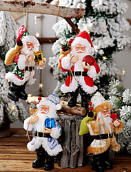 cheap -Santa Claus Resin Doll Pendant Standing Posture Doll Doll Decoration