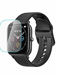 cheap -screen protector for p8 1.4in smart watch, 2pc anti-scratch touch sensitive tempered glass hd film (clear)