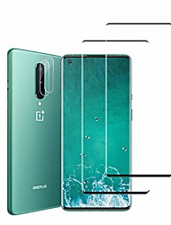 cheap -oneplus 8 screen protector + camera lens protectors by ye, [4 pack] full coverage tempered glass [3d glass] [case-friendly] screen protector for oneplus 8 5g