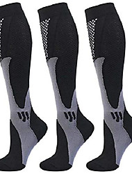 cheap -3 pair compression socks women men 20-30mmhg for athletic nursing medical travel-boost stamina,circulation & recovery (black-xxl)