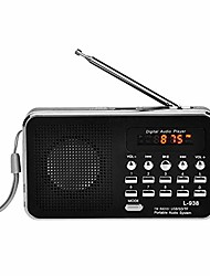 cheap -czyco portable fm/am radio digital mini speaker music mp3 player aux usb tf with led light(black)