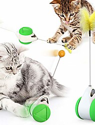 cheap -cat chasing toy balance car design cat interactive toys non-battery self rotating car cat toy with cat catnip wand chaser fun puzzle toy for cat kitten iq active stimulation