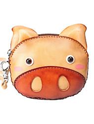 cheap -Women's Bags Cowhide Coin Purse Wallet Wristlet Bag Pattern / Print Animal 2021 Shopping Daily Brown