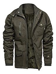 cheap -mens thick winter jackets hooded hunting jackets insulated windbreaker fleece lined field jackets military jackets gray