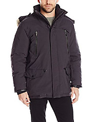 cheap -tumi men's fully loaded fur trimmed parka with removalable hood