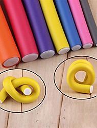 cheap -length 24cm 10pcs/lot rods soft foam hair roller hair curlers spiral diy styling hair sticks tools 8mm