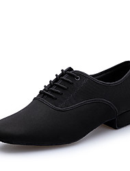 cheap -Men's Modern Shoes Heel Thick Heel Black Lace-up Adults