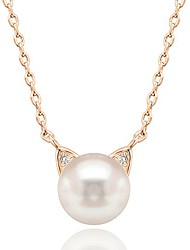 cheap -handpicked aaa+ cat ear freshwater cultured pearl necklace pendant - yellow