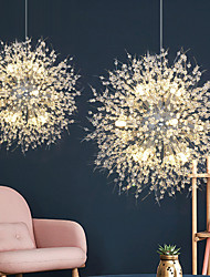 cheap -8/9/12 Heads LED Pendant Light Nordic Dandelion Chandelier Fireworks Crystal Lamp Living Room Dining Room Bedroom Lamp Romantic Clothing Store Bar Lamp 15-22inch