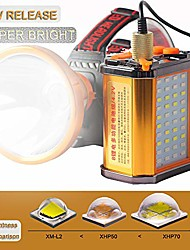 cheap -8 18650 battery with 21000mah led headlamp 5500 feet long distance multi-purpose headlight(xhp70)