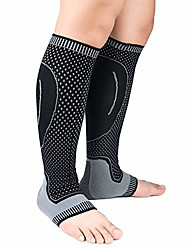 cheap -compression tube sock - best stockings for running, medical, athletic, edema, travel (xl, black+gray)