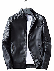 "cheap -mens vintage cafe racer retro motorcycle distressed biker leather jacket (3xl - suitable for chest size 46"")"