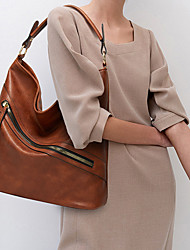 cheap -Women's Bags PU Leather Polyester Top Handle Bag Hobo Bag Zipper Solid Color Handbags Daily Office & Career Wine Black Almond Green