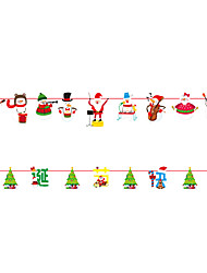 cheap -Christmas Toys Christmas Decorations Christmas Tree Ornaments Wall Decals Santa Claus Reindeer Merry Christmas Party Favor For Living Room Bedroom Paper 5 pcs Adults Kids 20*18cm Christmas Party
