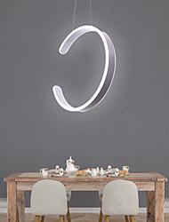 cheap -1-Light LED Circular Pendant Light Ambient Light Painted Finishes Aluminum Aluminum Adjustable 110-120V 220-240V Warm White Cold White LED Light Source Included LED Integr