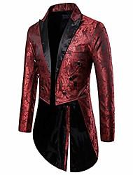 cheap -Men's Suits N / A N / A Long Coat Party & Evening Jacket Golden