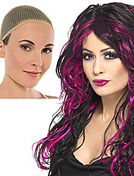 cheap -women's wo halloween gothic bride wig free wig cap fancy dres accessory one size fits all pink
