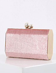 cheap -Women's Bags Polyester Evening Bag Chain Solid Colored Party Wedding 2021 Handbags Chain Bag Wine Black Blushing Pink Gold