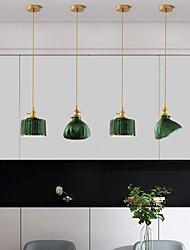 cheap -17 cm Pendant Light Bedside Light Vintage Style Gold And Green Copper Brass Modern 110-120V 220-240V