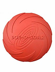 cheap -dog flying disc toy, dog toy, pet flying saucer, durable rubber training pet chew toy for outdoor interactive fun (red m)