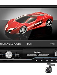 cheap -SWM 9702+4Led camera 7 inch 1 DIN Android 9.1 In-Dash Car DVD Player / Car MP5 Player / Car MP4 Player Touch Screen / GPS / Built-in Bluetooth for universal RCA / HDMI / FM2 Support MPEG / MPG / WMV