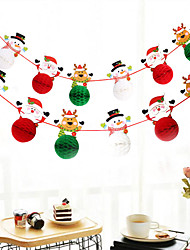 cheap -Christmas Toys Christmas Decorations Banner Pull Flag Santa Claus Reindeer Merry Christmas Waterproof Removable Party Favor PVC Paper 4 pcs Kid's Adults 16*10cm Christmas Party Favors Supplies