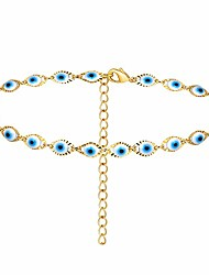 cheap -dainty evil eye necklace for women,colorful evil eye beaded choker necklaces for girls (silver colorful evil eye)