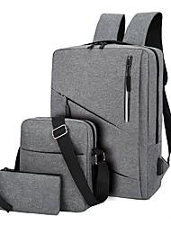 cheap -Men's Unisex Nylon Functional Backpack Large Capacity Lightweight Zipper Outdoor Traveling Black Blue Red Gray